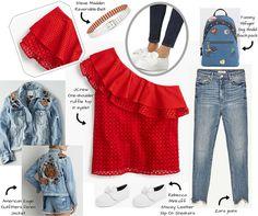 my english mood  Red passion/2: J.Crew+Zara+Rebecca Minkoff+AmericanEagle    #fashion #fashionblog #fashionblogger #redpassion #red #ss2017 #jcrew #zara #top