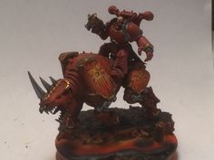 Khorne Lord on juggernaught with power fist