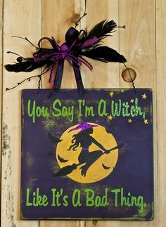Halloween QuotesDistressed Halloween sign. Fall decor. Cute by SignsStuffnThings, $24.99