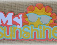 Sunshine Titles Premade Scrapbooking Embellishment Paper Piecing