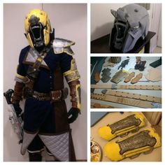Just wanted to share a build write-up of my Destiny Warlock costume if anyone is curious: Helmet – For the base of my helmet I have used a pepakur. Cosplay Helmet, Cosplay Armor, Male Cosplay, Cosplay Diy, Best Cosplay, Cosplay Ideas, Destiny Cosplay, Destiny Costume, Game Costumes