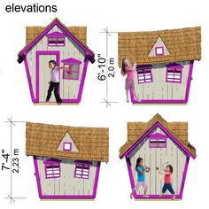 Step by step DIY guide:  	complete set of playhouse plans 	construction progress + comments 	complete material list + tool list