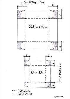 Anleitung für eine kleine Box mit Deckel / instructions for a small box with lid