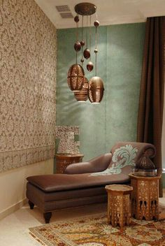 Ingredient for a Well-Traveled Room Solid light and dark walls in the room for some contrast against a metallic pattern wall! I loveSolid light and dark walls in the room for some contrast against a metallic pattern wall! Moroccan Design, Moroccan Style, Morrocan Decor, Moroccan Lanterns, Moroccan Bedroom Decor, Moroccan Inspired Bedroom, Modern Moroccan Decor, Moroccan Lounge, Moroccan Room
