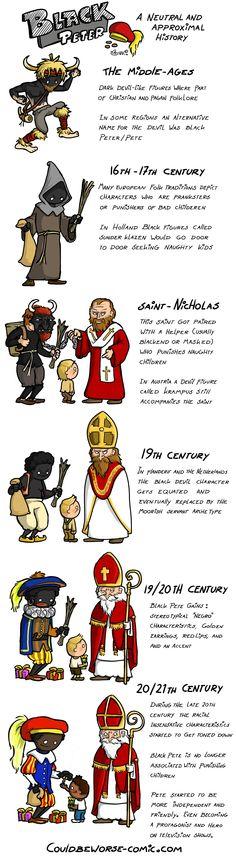 The history of Black Pete (zwarte Piet; een geschiedenis van zijn oorsprong)
