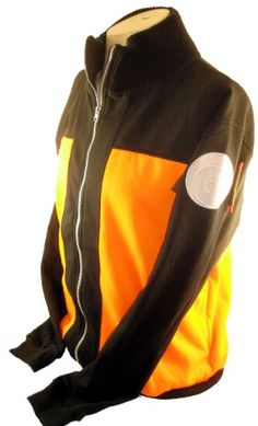 Amazon.com: Naruto Mens Sweatshirt Jacket - Naruto's Cosplay Style Jacket: Clothing