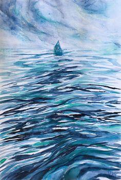 """18 /  PATRIZIA MARTIN ROSSI, """"In solitaria"""", 2018, collage, acquarello su carta, 20 x 30 cm."""