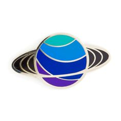 """Put a ring on it - Silver pin with colored enamel - Rubber backing - Measures 1"""" tall"""