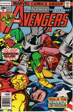 Avengers 157 March 1977 Issue Marvel Comics Grade by ViewObscura