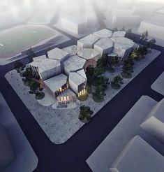 Selçuk Culture and Youth Center By Aboutblank Plans Architecture, Museum Architecture, Cultural Architecture, Architecture Student, Concept Architecture, Futuristic Architecture, Landscape Architecture, Interior Architecture, Youth Center