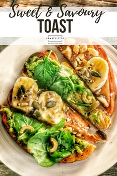 Perfect for snacks and lunches, healthy and nutritious take on an everyday classic. #toast #peanutbuttertoast #toasts #sweetandsavoury