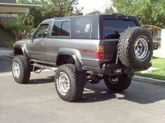 custom Spare tire carrier on 87 4runner