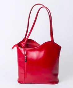 Another great find on #zulily! Rosso Asymmetrical Wave Leather Shoulder Bag by Pelleterie Lisa #zulilyfinds
