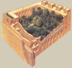 Palacio en Babilonia. Mesopotamia.  #Esmadeco.