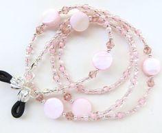 PINK TROPICS Beaded Eyeglass Chain Mother of by CJsInspirations