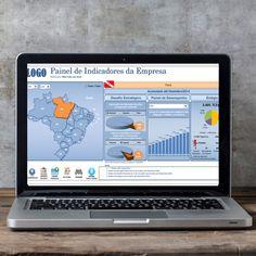Planilha com Painel de Indicadores da Empresa.  ->Opção de seleção por UF/Região e Mês/Ano. ->Gráficos me mudam conforme controles de Formulário ->Botões que automatizam importação de dados, geração de relatórios em PDF, exportação de dados no formato do sistema, entre outros.  🔗 linktr.ee/tudocomexcel  #excel #planilha #tudocomexcel #MSEXCEL #office