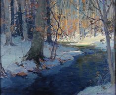 The Athenaeum - Winter scene (Emile Albert Gruppe - )