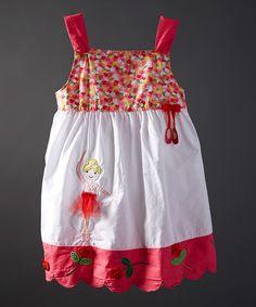 Look at this #zulilyfind! White Embroidered Ballerina Dress - Infant, Toddler & Girls #zulilyfinds