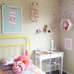 Kids room, gorgeous Confetti Mobile by Peachy Parade peachyparade.bigcartel.com