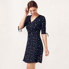 d3af37e663a Women s LC Lauren Conrad Print Fit   Flare Dress