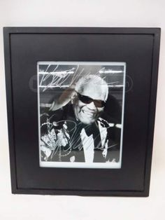 shopgoodwill.com: Framed Autographed Ray Charles Photo w/Letter