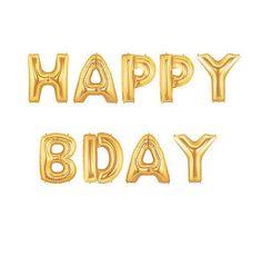 Happy B Day Balloon Kit  Gold  Foil Balloon  Party by pingosdoceu