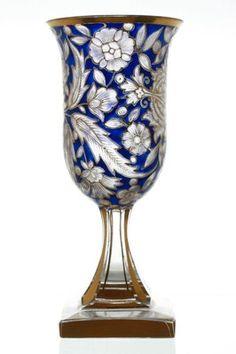 Antique Art Nouveau Bohemian Glass Goblet | eBay