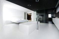 Meer dan 1000 idee n over zwarte slaapkamer muren op pinterest zwarte slaapkamers slaapkamers - Plafond geverfd zwart ...