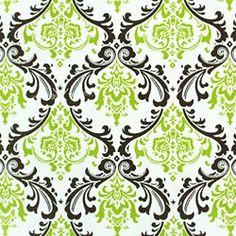 Madison Chartreuse/Chocolate by Premier Prints - Drapery Fabric - Fabric By The Yard, half bath stencil?