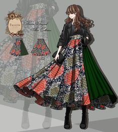 Fandom Outfits, Komplette Outfits, Anime Outfits, Vintage Fashion Sketches, Fashion Design Drawings, Roman Dress, Modern Kimono, Character Inspired Outfits, Dress Sketches