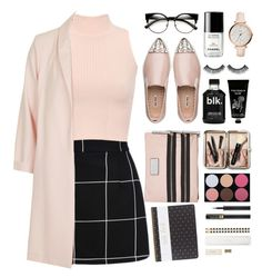 """""""Back to school"""" by sdarnai ❤ liked on Polyvore featuring Miu Miu, WearAll, FOSSIL, Chanel, Sephora Collection, TokyoMilk, Bobbi Brown Cosmetics, Shany, Marc by Marc Jacobs and Topshop"""