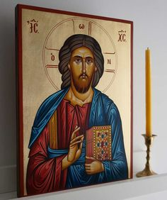 Christ Ruler of All Hand-Painted Byzantine Icon Mount Athos