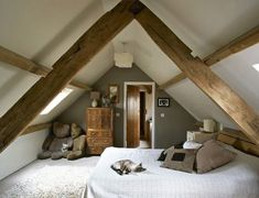 loft conversions Nice Schlafzimmer Ideen Dachboden that you must know, Youre in good company if youre looking for Schlafzimmer Ideen Dachboden Attic Master Bedroom, Attic Rooms, Attic Spaces, Bedroom Loft, Home Bedroom, Angled Bedroom, Bedroom Photos, Bedroom Layouts, Bedroom Ideas