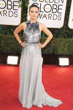 Golden Globes Red Carpet 2014 - Mila Kunis in Gucci