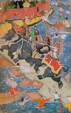 Mughal miniature painting, c. 1592-94