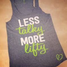 More Lifty Workout Tank // Weight Lifting by AbundantHeartApparel, $28.00