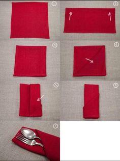dobras de guardanapo
