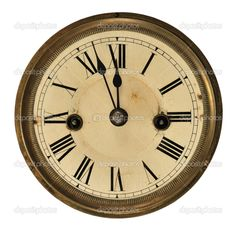 old books and clocks | antique clocks in 2013 – Antique clock face showing the time (three ...