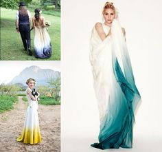 Tie-dye Ombre wedding dress - Google Search
