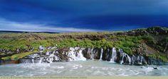 Wasserfall Hraunfossar, Island