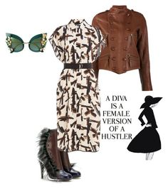 """""""Diva"""" by remonemarie ❤ liked on Polyvore featuring Fendi, Faith Connexion, By Malene Birger, Dolce&Gabbana and WALL"""