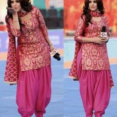 Jaquard Silk Wedding Pink Patiyal Stich Suit Patiala Pants, Punjabi Salwar Suits, Salwar Kameez, Plazo Kurti, Pakistani Dresses, Party Wear Lehenga, Party Wear Dresses, Latest Punjabi Suits Design, Maroon Gowns