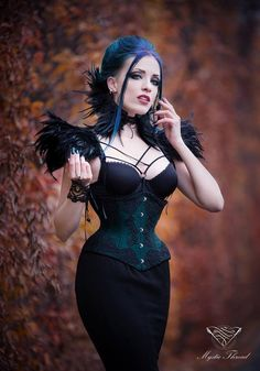 Model, make-up, styl., edit: Daedra Neck corset & shoulder pads: Mystic Thread Corset: Vermilion Corsets Photographer: Unit Foto Welcome to Gothic and Amazing | www.gothicandamazing.com