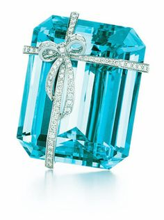 Tiffany & Co 92 carat aquamarine with a bow