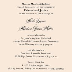 11 Best Christian Wedding Invitation Wording Images In 2013
