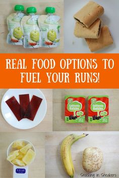 Looking for options for running fuel besides the gels and blocks? Try these common foods you can find at the grocery store!