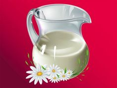Gleaming Glass Pitcher of Milk with Daisies Vector - http://www.welovesolo.com/gleaming-glass-pitcher-of-milk-with-daisies-vector/