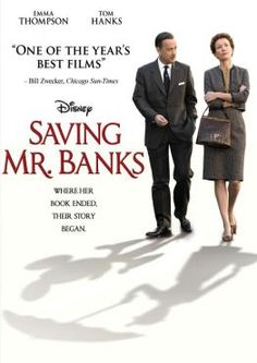 Saving Mr. Banks, Movie on DVD, Drama. Just finished watching this tonight with the family. CUTEST MOVIE EVER! Made me want to  turn right around and watch Mary Poppins.