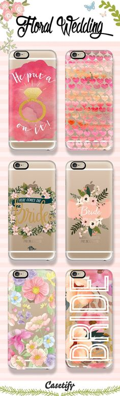 Rustic & Whimsical Floral Wedding  Themed Phone Case Designs. Shop them all  - http://www.casetify.com/artworks/QOyXioFbrT: