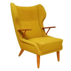 Danish Modern Wing Back Armchair
